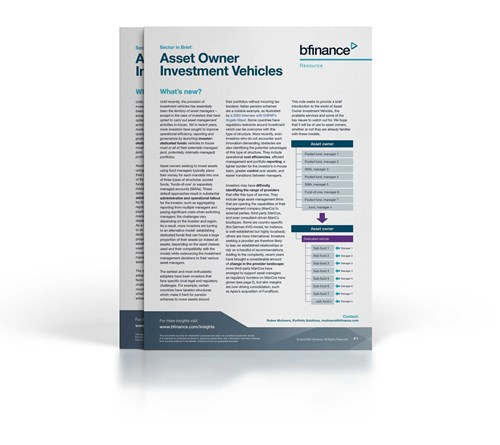 Asset Owner Investment Vehicles - Sector in Brief